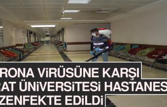 Korona Virüsüne Karşı Fırat Üniversitesi Hastanesi Dezenfekte Edildi