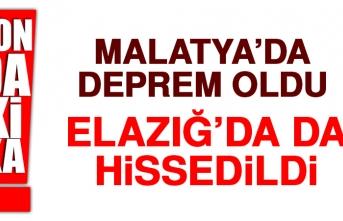 Malatya'daki Deprem Elazığ'da da Hissedildi