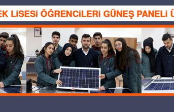 Meslek Lisesi Öğrencileri Güneş Paneli Üretti
