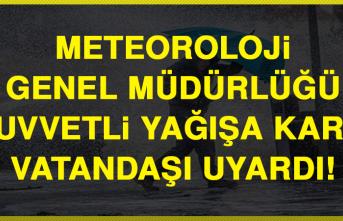 Meteoroloji Genel Müdürlüğü Kuvvetli Yağışa Karşı Vatandaşı Uyardı!