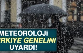 Meteoroloji Türkiye Genelini Uyardı