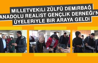 Milletvekili Demirbağ, Anadolu Realist Gençlik Derneği'de