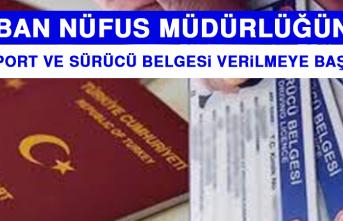 Pasaport ve Sürücü Belgesi Verilmeye Başlandı