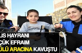 Polis Hayranı Küçük Efraim, Akülü Aracına Kavuştu