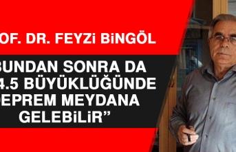 Prof. Dr. Feyzi Bingöl, Depremle İlgili Açıklama Yaptı