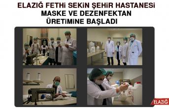 Şehir Hastanesinde Maske ve Dezenfektan Üretimi Başladı