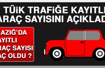 TÜİK Trafiğe Kayıtlı Araç Sayısını Açıkladı! Elazığ'da Kayıtlı Araç Sayısı Kaç Oldu?