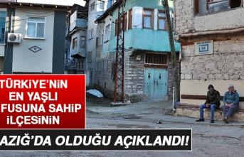Türkiye'nin En Yaşlı Nüfusuna Sahip İlçesi Elazığ'da