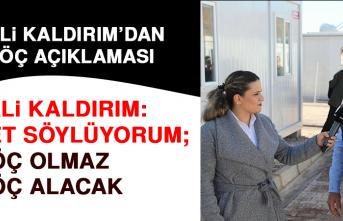 Vali Kaldırım'dan Göç Açıklaması