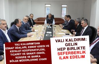VALİ KALDIRIM'DAN UYARI GELDİ
