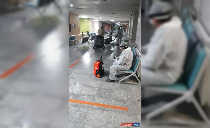 Van YYÜ Dursun Odabaşı Tıp Merkezi dezenfekte edildi
