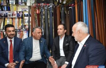 Yeniden Refah Partisi Genel Başkanı Erbakan, Malatya'da partililerle buluştu: