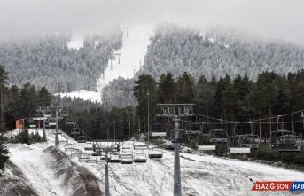 Cıbıltepe Kayak Merkezi beyaza büründü