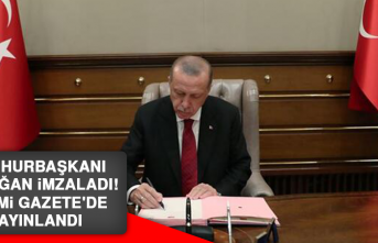 Cumhurbaşkanı Erdoğan imzaladı! Resmi Gazete'de yayınlandı