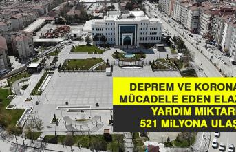 Deprem ve Korona İle Mücadele Eden Elazığ'da Yardım Miktarı 521 Milyona Ulaştı