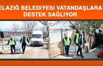 Elazığ Belediyesi Vatandaşlara Destek Sağlıyor