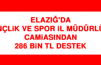 Elazığ'da Gençlik ve Spor İl Müdürlüğü Camiasından 286 Bin Tl Destek