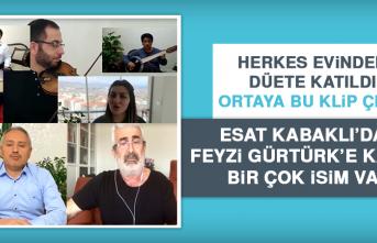 """Elazığ'da Öğretmen ve Öğrencilerden """"Evde Kal"""" Klibi"""
