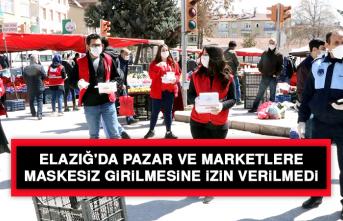 Elazığ'da Pazar Ve Marketlere Maskesiz Girilmesine İzin Verilmedi