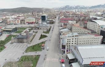 Erzurum'da sokağa çıkma kısıtlamasının ardından sessizlik hakim