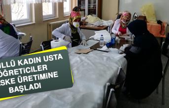 Gönüllü Kadın Usta Öğreticiler, Maske Üretimine Başladı