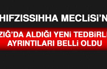 İl Hıfzıssıhha Meclisi'nin Elazığ'da Aldığı Yeni Tedbirlerin Ayrıntıları Belli Oldu