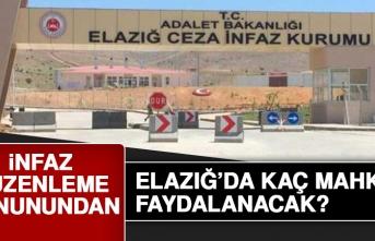 İnfaz Düzenlemesi Kanunundan Elazığ'da Kaç Mahkum Faydalanacak?