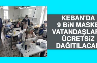 Keban'da 9 Bin Maske Vatandaşlara Ücretsiz Dağıtılacak