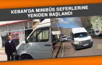 Keban'da Minibüs Seferlerine Yeniden Başlandı