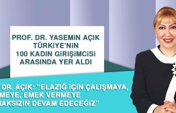 Prof. Dr. Yasemın Açık, Türkiye'nin 100 Kadın Girişimcisi Arasında Yer Aldı