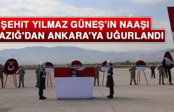 Şehit Yılmaz Güneş'in Naaşı Elazığ'dan Ankara'ya Uğurlandı