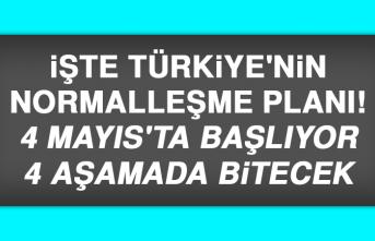 Türkiye'nin normalleşme planı belli oldu!