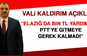 Vali Kaldırım: PTT'ye Gitmeye Gerek Kalmadı