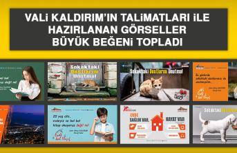 Vali Kaldırım'ın Talimatları İle Hazırlanan Görseller, Büyük Beğeni Topladı