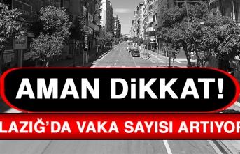 Aman Dikkat! Elazığ'da Vaka Sayısı Artmaya Devam Ediyor