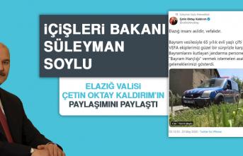 Bakan Soylu Vali Kaldırım'ın Paylaşımını Paylaştı