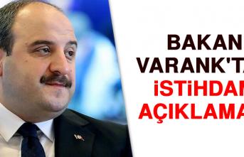 Bakan Varank'tan istihdam açıklaması!