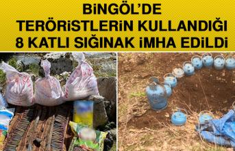 Bingöl'de Teröristlerin Kullandığı 8 Katlı Sığınak İmha Edildi