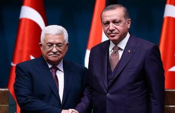 Cumhurbaşkanı Erdoğan Filistin lideri Mahmud Abbas ile görüştü