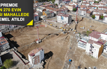Depremde 2 Bin 270 Evin Yıkıldığı Mahallede İlk Temel Atıldı