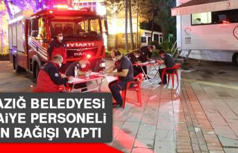 Elazığ Belediyesi İtfaiye Personelinden Kan Bağışı