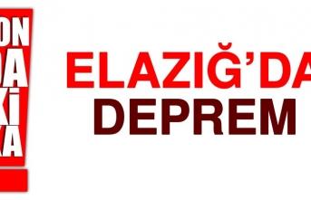 ELAZIĞ'DA HİSSEDİLEN BİR DEPREM OLDU