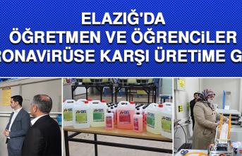 Elazığ'da Öğretmen Ve Öğrenciler Korona Virüse Karşı Üretime Geçti