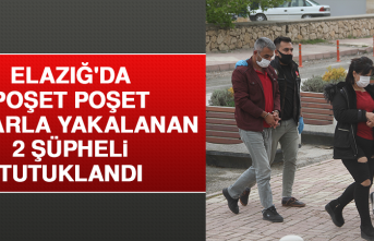 Elazığ'da Poşet Poşet Esrarla Yakalanan 2 Şüpheli Tutuklandı