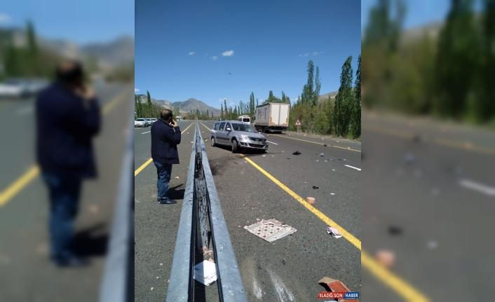 Erzurum'da bariyerlere çarpan kamyonetin sürücüsü ağır yaralandı