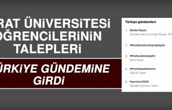 Fırat Üniversitesi Öğrencileri Sosyal Medyada Büyük Ses Getirdi