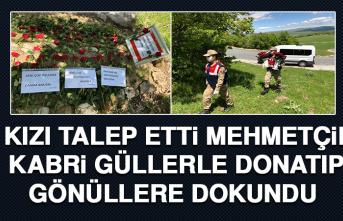 Kızı Talep Etti, Mehmetçik Kabri Güllerle Donatıp Gönüllere Dokundu