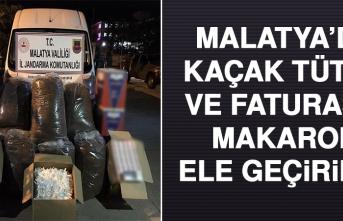 Malatya'da Kaçak Tütün Ve Faturasız Makaron Ele Geçirildi