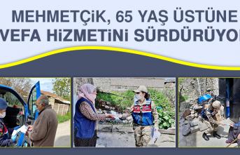 Mehmetçik, 65 Yaş Üstüne Vefa Hizmetini Sürdürüyor