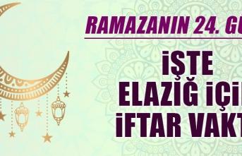 Ramazanın Yirmi Dördüncü Gününde Elazığ'da İftar Vakti Saat Kaçta?